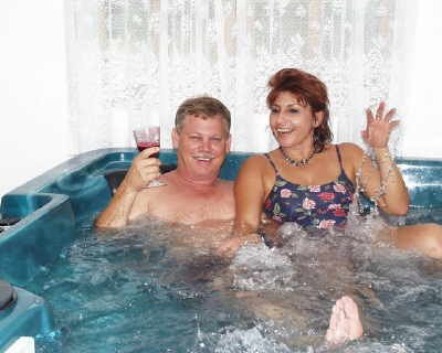 guests relaxing in the jacuzzi